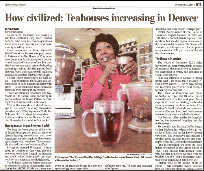 Wystone's World Tea In The News
